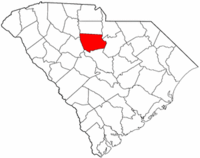 South Carolina Map showing Fairfield County