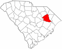 South Carolina Map showing Florence County