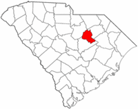 South Carolina Map showing Lee County