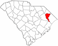 South Carolina Map showing Marion County