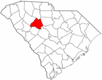 South Carolina Map showing Newberry County