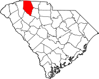 South Carolina Map showing Spartanburg County