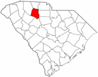 South Carolina Map showing Union County
