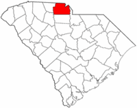 South Carolina Map showing York County