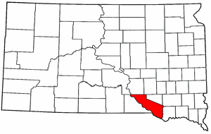 South Dakota Map showing Charles Mix County