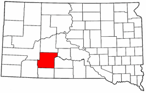 South Dakota Map showing Jackson County