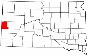 South Dakota Map showing Lawrence County