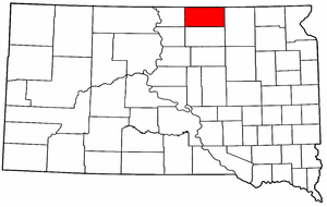 South Dakota Map showing McPherson County