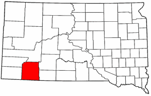 South Dakota Map showing Shannon County