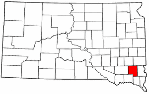 South Dakota Map showing Turner County