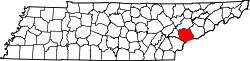 Tennessee Map showing Blount County