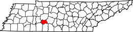 Tennessee Map showing Lewis County