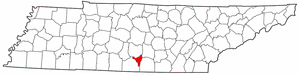Tennessee Map showing Moore County