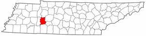 Tennessee Map showing Perry County