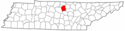Tennessee Map showing Smith County