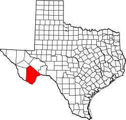 Texas Map showing Brewster County