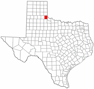 Texas Map showing Childress County