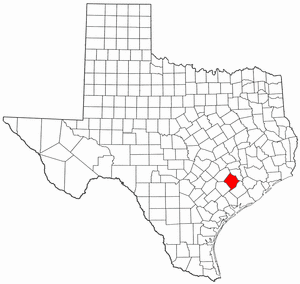Texas Map showing Colorado County