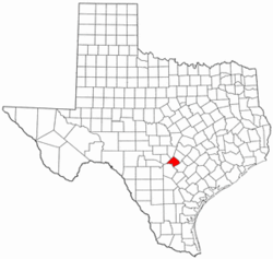 Texas Map showing Comal County