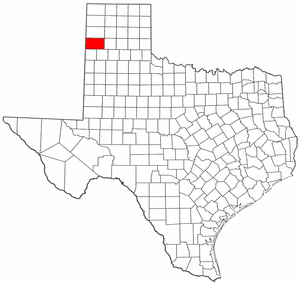 Texas Map showing Deaf Smith County