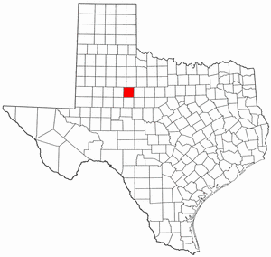 Texas Map showing Fisher County