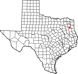 Texas Map showing Gregg County