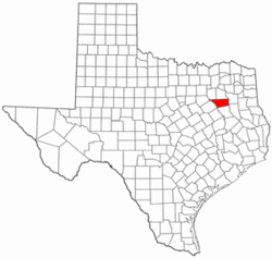 Texas Map showing Henderson County
