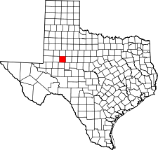 Texas Map showing Howard County