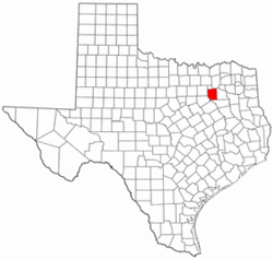 Texas Map showing Kaufman County