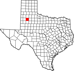 Texas Map showing Lubbock County