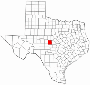 Texas Map showing McCulloch County