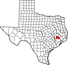 Texas Map showing Montgomery County