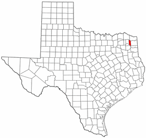 Texas Map showing Morris County