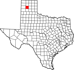Texas Map showing Potter County