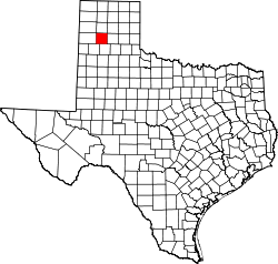 Texas Map showing Randall County