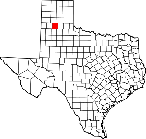 Texas Map showing Swisher County