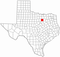Texas Map showing Tarrant County