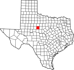 Texas Map showing Taylor County