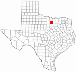 Texas Map showing Wise County