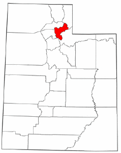 Utah Map showing Morgan County