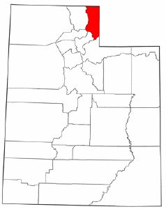 Utah Map showing Rich County