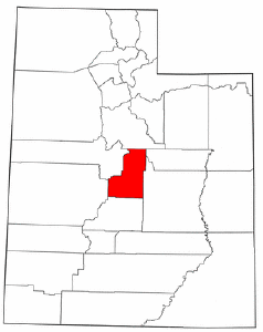 Utah Map showing Sanpete County