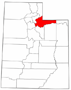 Utah Map showing Summit County
