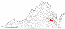 Virginia Map showing Charles City