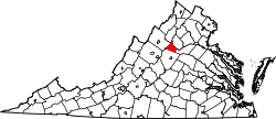 Virginia Map showing Greene County