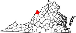Virginia Map showing Highland County
