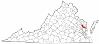 Virginia Map showing Middlesex County