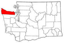 Washington Map showing Clallam County