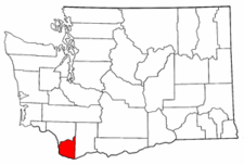 Washington Map showing Clark County