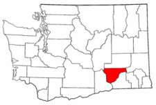 Washington Map showing Franklin County